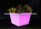 illuminated Plastic LED flowet pot