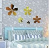Acrylic flower shape wall mirror sticker, assemble petal