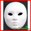 Carnival White Paper Mache Man Full Face Mask