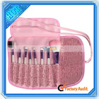 Hot ! Pro 8Pcs Pink Make Up Brush Set+Case