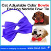 blue Cat Adjustable Collar Bowtie Pet Dog Necktie Bow Tie