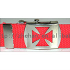 red d-ring canvas belt