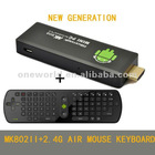 1 GB DDR3 RAM 4GB ROM MK802 II google android 4.0 tv box+2.4G wireless air mouse keyboard for smart tv