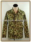 Cotton/polyester camo military BDU coat with fleece lining