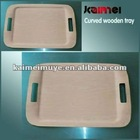 wood serving tray, curved wood tray,fashion wood tray