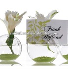"2"" Glass Vase Blossom Vase Card Holders"