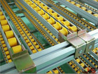 JS Resin skate rail conveyor, Gravitational rack, Sliding rack