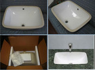 Undermount Ceramic Sink for Bathroom Vanity Tops