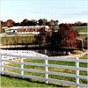 4 rail white plastic horse rail fence