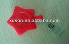 star shape retractable custom badge holder with PVC strap
