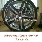 "car body protection vinyl 3d carbon fiber vinyl wrap self-adhesive vinyl sheets in 60""X1170"" air bubble free"