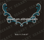 leaves iron on rhinestone transfer motif