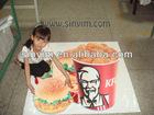 3D floor sticker for KFC advertisement