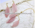 2012 spring feather earring