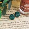 Fashion Shamballa Earring Crystal Alloy Bead Jewelry FE004