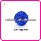 sapphire crystal clay beads shamballa bracelet accessories (Z500122)