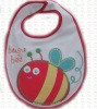 Applique embroidery cotton knit baby bibs