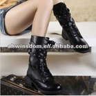 2012 ladies newest fashion boots with pu