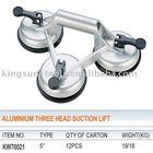 Aluminium Three Head Glass Vacuum Cup Lifter