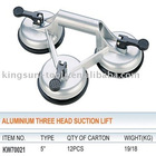 Aluminium Three Head Glass Vacuum Cup Lifter