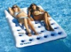 Inflatable floating mat