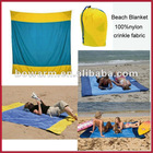 100% crinkle nylon fabric portable beach blanket