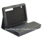 Wireless Keyboard Bluetooth 3.0 Silicone Keyboard Folding Leather Protective Case for Motorola XOOM 2 10.1 Inch Tablet