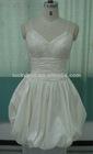 Hot Sale Spaghetti Strap Real Picture White Taffeta Evening Dress