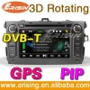 "Erisin 7"" 2 din Auto Radio Player DVB-T Bluetooth 3D for TOYOTA COROLLA"