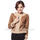 women faux suede bonded sherpa jacket overcoat