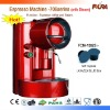Soft capsule (size like LAVAZZA BLUE)Espresso Coffee Machine With Steam/Cappuccino Function