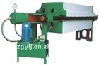 Hydraulic cast iron micron filter cartridge filter press