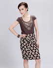 Newest Office Ladies' Tight Floral Print Bust Skirt