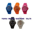 Cheap colorful promotional silicone calendar girls watch
