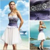 2011 Loveable Sweetheart Sequined White and Purple Cute Short Dress