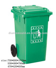 outdoor plastic garbage bin with wheels mould