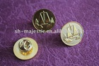 silver / gold / bronze round stamping metal pin plate