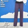 overlay elastic waistband women sport pants