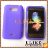 Purple Silicon Case For LG Motion 4G MS770