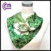 custom printed floral square silk scarf