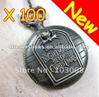 2012 Hot Bronze Retro JACK Nightmare Before Christmas Pocket Watch Necklace Gift