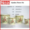 Pottery Hand Painted Flower Pots