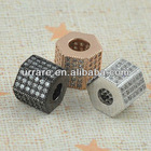 High Quality Wholesale Crystal Rhinestone Paved Alloy Beads