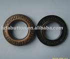 metal brass garment eyelets button