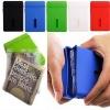 2011 fashion siliocne pouch rubber wallet silicone purse