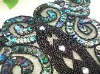 embroidery motif designs,garment patch,beads neckline,mesh collar