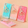 For iPhone 4 Fancy Cellphone Case with rhinestone