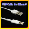 USB 2.0 Cable for iphone 5 USB cable 8 pin to USB For iPhone5 ipod touch 5 ipod nano 7 (not original)