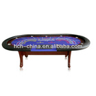 96 X 42 inches Deluxe Casino Baccarat Poker Table With Solid Wood Table Legs