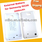free shipping 3500mAh Backup battery External Battery Charging Case For Samsung Galaxy Note i9220